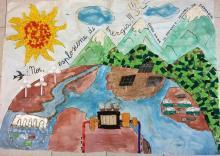 I disegni presentati dai ragazzi di Foligno